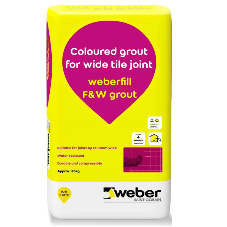 coarse sand grout, joint up to 12mm